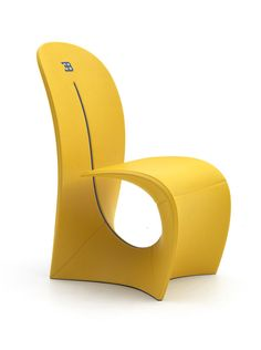 Cobra chair yellow for Bugatti Home www.luxurylivinggroup.com #Bugatti #LuxuryLivingGroup