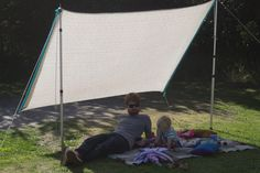 Print of DIY Shade Sail: Simple, Practical, and Recommended Protection for Outdoor Tarp Shade, Beach Shade Tent, Patio Shade, Diy Camping, Outdoor Camping, Picnic Blanket, Outdoor Blanket, Camper Hacks, Outdoor Projects
