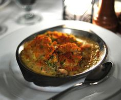 Broiled oyster and artichoke gratin is a great and delicious special occasion appetizer.