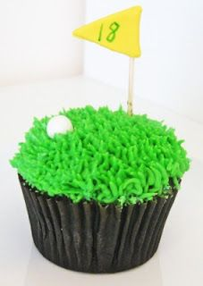 Golf crazy cup cakes