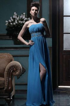(CLICK IMAGE TWICE FOR DETAILS AND PRICING) #women #womensdresses #bridaldress   #weddingattire #weddings #brides #ladiesdresses #ladiesdress  #bridetobe #prom #promdresses #partydress #eveningdress #eveninggown #cocktaildress #straplessdress  Charming Empire Strapless Floor-length Chiffon Split Prom Dress  - See More Strapless Womens dresses at  http://www.zbrands.com/Strapless-Womens-Dresses-C60.aspx