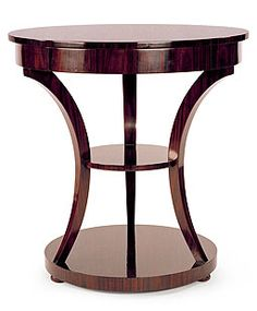 "Jordan Table #KJ4003 Rosewood Veneer  Finish shown: M-6     Details:  One drawer.  Standard Dimensions: Diameter: 32"" Height: 33"""