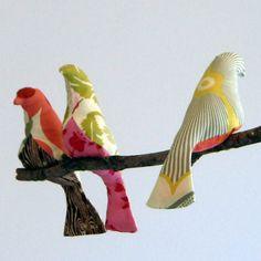 幸せの鳥ファブリックオブジェの作り方:無料パターン付き