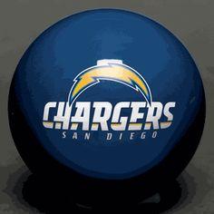 NFL - San Diego Chargers Billiard Ball Set / 15 Balls and Cue Ball , San Diego Chargers - eFamilyFun