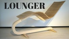 Wooden lounger chair - YouTube