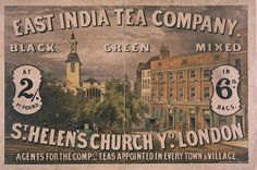 East India Tea Company advertisement (c. 1870)