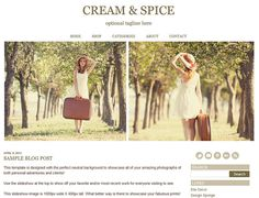 Premade Slideshow Blogger Template Design  Cream & by ElloThemes