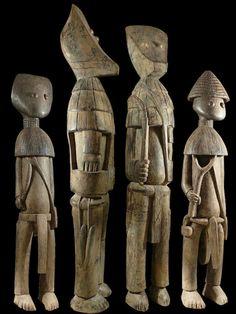 Set of 4 statues Poro - Kafigueledjo - Senufo - Ivory Coast African Masks, African Art, Statues For Sale, African Sculptures, Art Premier, Masks Art, Small Art, Tribal Art, Clay Art
