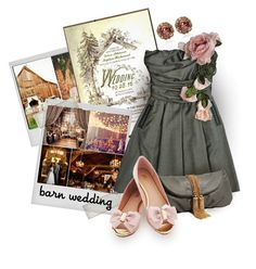 """Barn Weddings"" by assamite-mit ❤ liked on Polyvore featuring Polaroid, Anna Sheffield, Deux Lux, bestdressedguest and barnwedding"