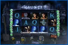 Haunted is a 5 reel, 23 payline, Win-A-Day Video Slot machine with a 1000 coin Jackpot. Read more at http://www.casinocashjourney.com/slots/win-a-day/haunted.htm