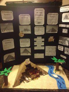 DIY ancient Egypt pyramids school project for fair