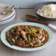 This spicy stir-fry is inspired by the Chinese-American take-out classic. Thinly sliced beef sirloin is coated in cornstarch and deep-fried until crisp, then its tossed with vegetables and a fiery sauce flavored with three kinds of chiles.