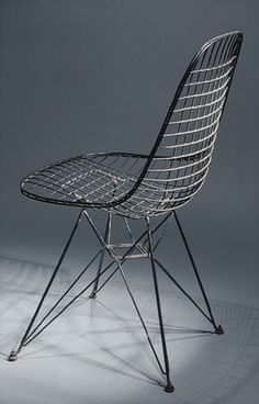Wire side chair, 1951 Charles Eames (American, 1907–1978); Ray Eames (American, 1912–1988); manufactured by Herman Miller Furniture Company, Zeeland, Michigan Metal wire, painted black
