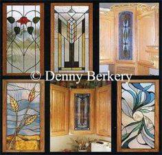 Stained Glass Cabinet Doors | Custom stained glass windows lamps with beveled glass window