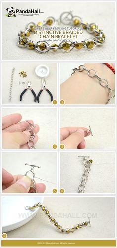 Wire Jewelry Making Tutorials-Distinctive Braided Chain Bracelet from pandahall.com