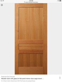 Three Panel Flat Fir Door