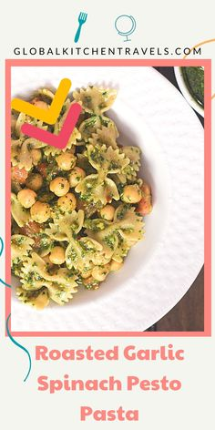 The perfect meal prep recipe. Make the pesto ahead of time and dinner can be ready in just 10 minutes for Meatless Monday or any night of the week. Healthy Spinach Pesto    Easy Spinach Pesto Pasta    Spinach Pistachio Pesto Pasta    Easty Pesto Pasta    Easy Weeknight Pasta #pesto #pasta #vegetarian #meatlessmonday #mealprep #makeahead Spinach Pesto Pasta, Garlic Spinach, Roasted Garlic, Pistachio Pesto, Pasta Noodles, Meatless Monday, Meal Prep, Vegetarian, Meals