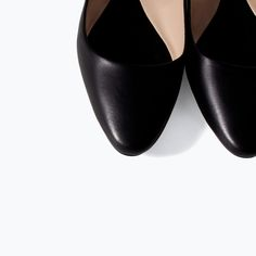 ZARA - SHOES & BAGS - SOFT LEATHER BALLERINA FLATS