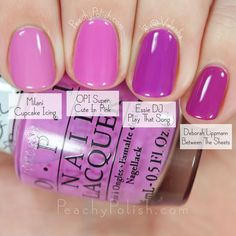 OPI Super Cute In Pink Comparison | Hello Kitty Collection | Peachy Polish