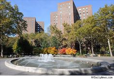 The fountain at Stuyvesant Town Apts. where I lived for 5 years <3