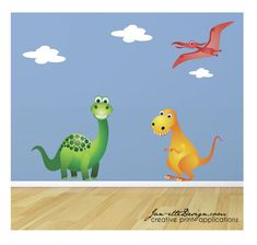 Dinosaur Wall Decal Nursery Wall DecalChildrens by JanetteDesign, $65.00