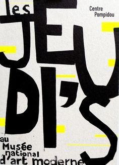 Great design. #typography #quote Centre Pompidou .