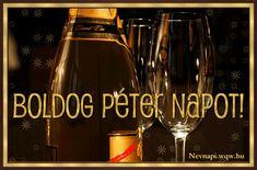 Névre szóló Péter képeslap - Zenés névnapi képeslapok és képek Sauce Bottle, Soy Sauce, Google, Bean Dip