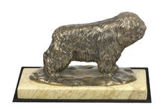 Made of cold cast bronze. Polish Lowland Sheepdog, White Marble, Lion Sculpture, It Cast, Bronze, Cold, Statue, Artist, Crafts