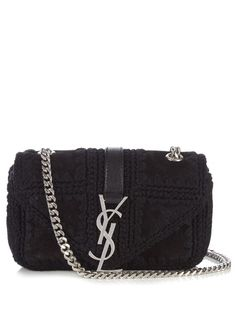 547ffeb28fba SAINT LAURENT Monogram Suede Cross-Body Bag.  saintlaurent  bags  shoulder  bags · Handbag ...