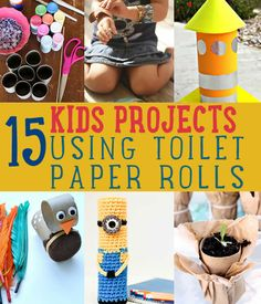 Crafts For Kids Using Toilet Paper Rolls l  Kids Craft Projects