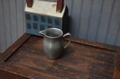 $12.90 ✿ bluefolkhome on etsy ✿ Pewter Creamer Small Pitcher Traditional Colonial by bluefolkhome