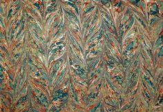 Gelgit Ebru marbled pattern by Turkish artist Melike Kazaz. via Ebru Dükkani