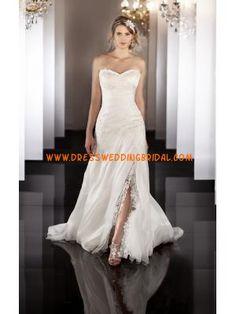 Gorgeous New Design One Shoulder Organza Lace Wedding Dress for Brides 2013