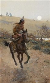 Artwork by Henry Francis Farny, Comanche, Made of gouache on paper kp