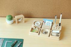 Tofu Stationary, set 6 pcs - maple | Abodee