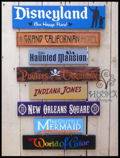 See YOUR favorites memories come alive with this custom, personalized sign with all of your favorite rides and attractions from the Happiest