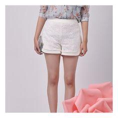 High Waist Crochet Shorts.