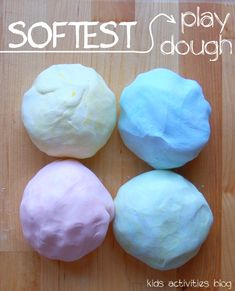 2 ingredient PLAY DOUGH RECIPE NOTE: This is inedible play-dough and should not be used with kids who are still putting things into their mouths. So what did we need to create our silky play dough? 1 part Hair Conditioner 2 parts Corn Starch. Projects For Kids, Diy For Kids, Craft Projects, Crafts For Kids, Kids Fun, Cooked Playdough, Homemade Playdough, Super Soft Playdough Recipe, 2 Ingredient Playdough