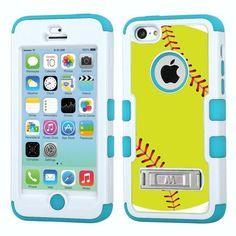 One Tough Shield ® Hybrid 3-Layer Case with Kick-Stand (White/Teal) for Apple iPhone 5C - (Softball Green), http://www.amazon.com/dp/B00LE2K4UE/ref=cm_sw_r_pi_awdm_AGbCub12FTS09