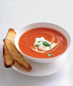 Rajčatová polévka - ApetitOnline.cz Soup Recipes, Vegetarian Recipes, Dessert Recipes, Healthy Recipes, Yummy Food, Tasty, Healthy Cooking, Curry, Food And Drink