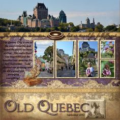 Old Quebec Reminisce Travel Digital Scrapbook Layout by Beth Thomander