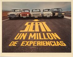 Seat un millón de experiencias 1969 Fiat 600, Vintage Ads, Vintage Designs, Modern Classic, Classic Cars, Vw Group, 1960s Cars, Volkswagen Group, Floating House