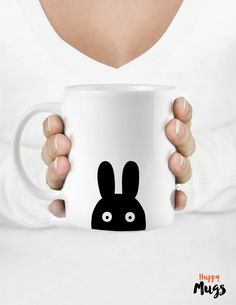 Coffee mug Personalized gift Gift mug Bunny mug by HuppyMugs