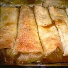 Apple Enchiladas.....good with vanilla ice cream.