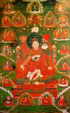 Tibetan Buddhist Thangka of Jigme Lingpa, Terton (treasure revealer), a great master.