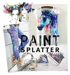 """""""Magical Splatter Day"""" by flirtydzines ❤ liked on Polyvore featuring paintsplatter"""