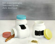 How to make your own Anthropologie Spice Jars for a fraction of the co…