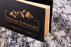 Mountain Wedding Book Bride Book Wedding Gift Memory Wooden | Etsy