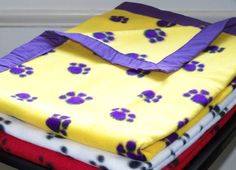 Royal Paws Fleece Cozy  Pet Blanket by CozyPomPom on Etsy, $20.00