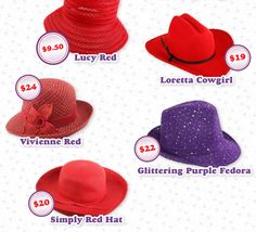 Red Hat Ladies   ... Society Lady's Wardrobe Starts With A Hat...Or Two! - Red Hat Blow Out